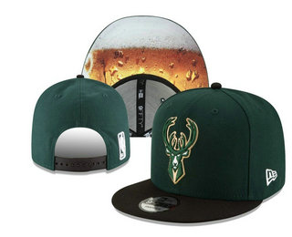 Milwaukee Bucks Snapback Ajustable Cap Hat YD 20-04-07-03