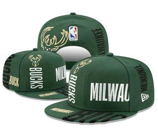 Milwaukee Bucks Snapback Ajustable Cap Hat YD 20-04-07-01