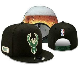 Milwaukee Bucks Snapback Ajustable Cap Hat YD 20-04-07-05