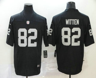 Men's Las Vegas Raiders #82 Jason Witten Black 2020 Vapor Untouchable Stitched NFL Nike Limited Jersey
