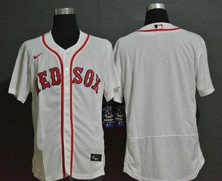 Men's Boston Red Sox Blank White Stitched MLB Flex Base Nike Jersey