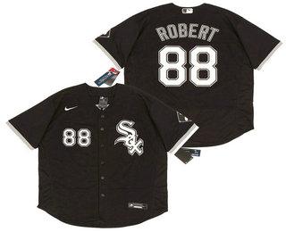 Men's Chicago White Sox #88 Luis Robert Black Stitched MLB Flex Base Nike Jersey