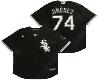 Men's Chicago White Sox #74 Eloy Jimenez Black Stitched MLB Cool Base Nike Jersey