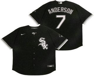 Men's Chicago White Sox #7 Tim Anderson Black Stitched MLB Flex Base Nike Jersey