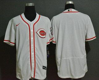 Men's Cincinnati Reds Blank White Stitched MLB Flex Base Nike Jersey