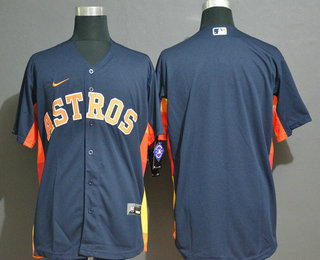 Men's Houston Astros Blank Navy Blue Stitched MLB Cool Base Nike Jersey
