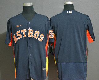 Men's Houston Astros Blank Navy Blue Stitched MLB Flex Base Nike Jersey