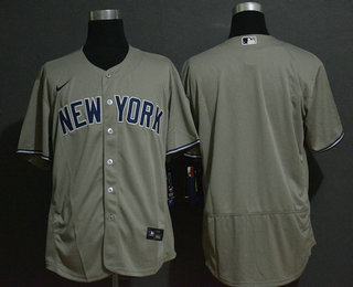 Men's New York Yankees Blank Gray Stitched MLB Flex Base Nike Jersey