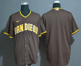 Men's San Diego Padres Blank Brown Stitched MLB Cool Base Nike Jersey