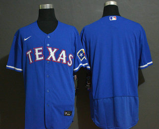 Men's Texas Rangers Blank Blue Stitched MLB Flex Base Nike Jersey