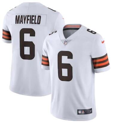 Men's Cleveland Browns #6 Baker Mayfield White 2020 NEW Vapor Untouchable Stitched NFL Nike Limited Jersey