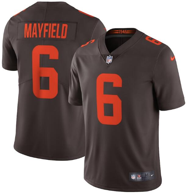 Men's Cleveland Browns #6 Baker Mayfield Brown 2020 Alternate Vapor Untouchable Stitched NFL Nike Limited Jersey