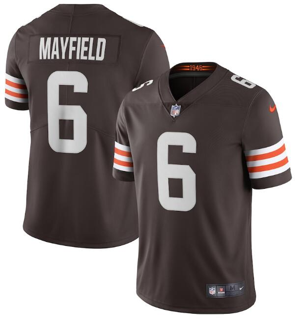 Men's Cleveland Browns #6 Baker Mayfield Brown 2020 NEW Vapor Untouchable Stitched NFL Nike Limited Jersey