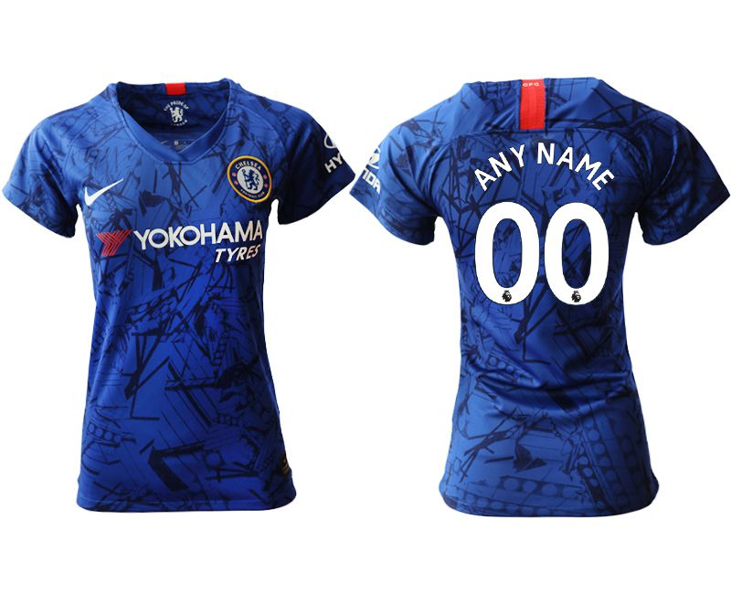 Women 2019-2020 club Chelsea home aaa version customized blue Soccer Jerseys