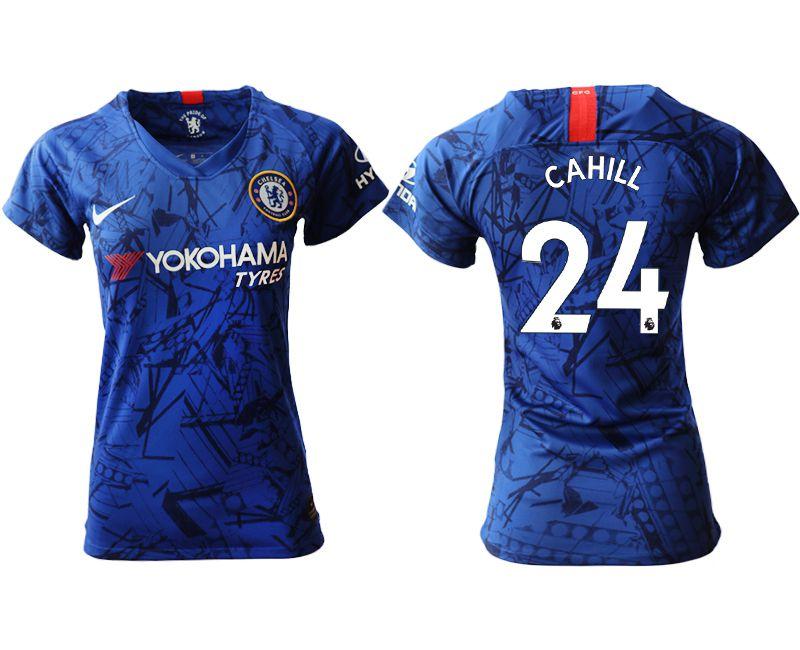 Women 2019-2020 club Chelsea home aaa version 24 blue Soccer Jerseys
