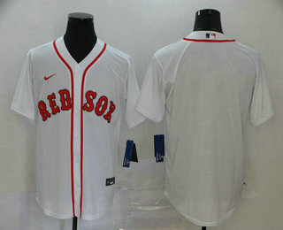 Men's Boston Red Sox Blank White Stitched MLB Cool Base Nike Jersey