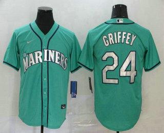 Men's Seattle Mariners #24 Ken Griffey Jr. Teal Green Stitched MLB Cool Base Nike Jersey
