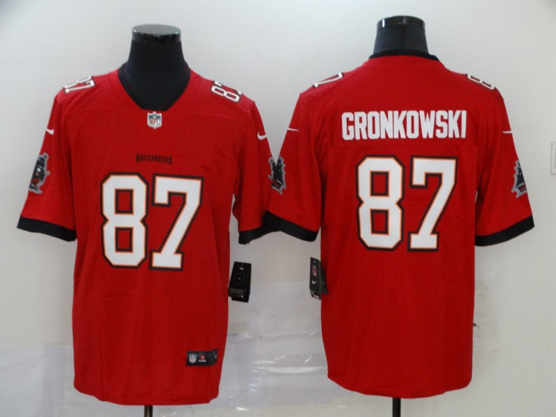 Men's Tampa Bay Buccaneers #87 Rob Gronkowski Red 2020 NEW Vapor Untouchable Stitched NFL Nike Limited Jersey