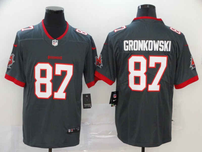 Men's Tampa Bay Buccaneers #87 Rob Gronkowski 2020 NEW Vapor Untouchable Stitched NFL Nike Limited Jersey
