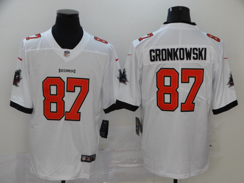 Men's Tampa Bay Buccaneers #87 Rob Gronkowski White 2020 NEW Vapor Untouchable Stitched NFL Nike Limited Jersey