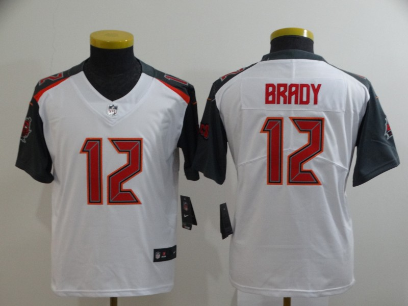Youth Tampa Bay Buccaneers #12 Tom Brady White 2020 Vapor Untouchable Stitched NFL Nike Limited Jersey