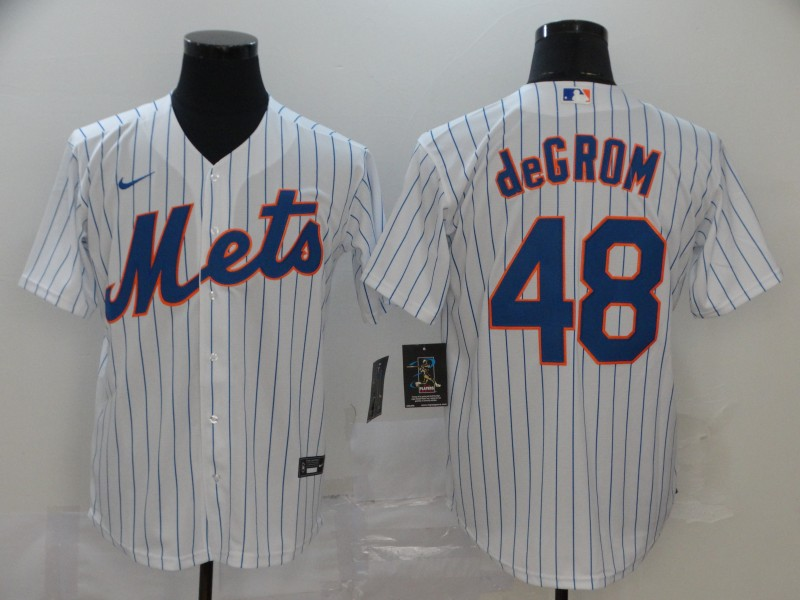 Men's New York Mets #48 Jacob deGrom White Stitched MLB Cool Base Nike Jersey