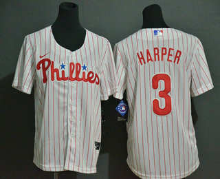 Youth Philadelphia Phillies #3 Bryce Harper White Stitched MLB Cool Base Nike Jersey