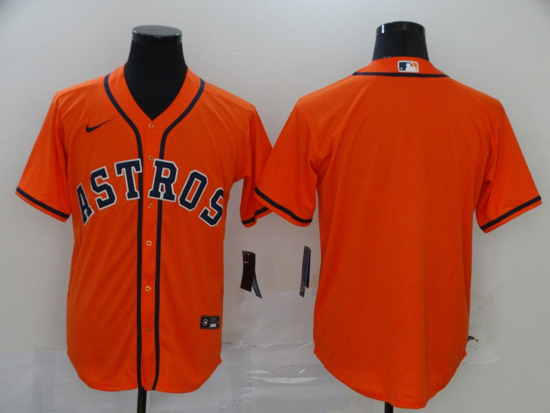 Men's Houston Astros Blank Orange Stitched MLB Cool Base Nike Jersey