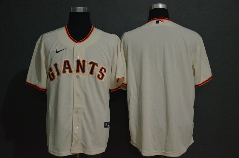 Men's San Francisco Giants Blank Cream Stitched MLB Cool Base Nike Jersey