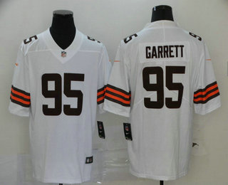 Men's Cleveland Browns #95 Myles Garrett White 2020 NEW Vapor Untouchable Stitched NFL Nike Limited Jersey