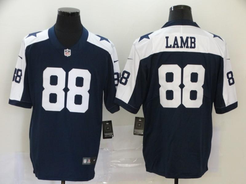 Men's Dallas Cowboys #88 CeeDee Lamb Blue Thanksgiving 2020 NEW Vapor Untouchable Stitched NFL Nike Limited Jersey