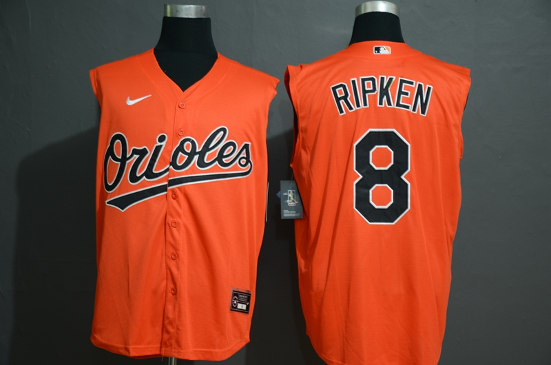 Men's Baltimore Orioles #8 Cal Ripken Jr. Orange 2020 Cool and Refreshing Sleeveless Fan Stitched MLB Nike Jersey