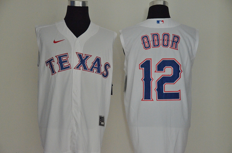 Men's Texas Rangers #12 Rougned Odor White 2020 Cool and Refreshing Sleeveless Fan Stitched MLB Nike Jersey