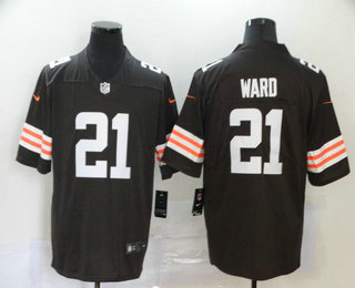 Men's Cleveland Browns #21 T.J. Ward Brown 2020 NEW Vapor Untouchable Stitched NFL Nike Limited Jersey