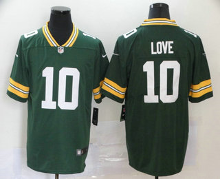 Men's Green Bay Packers #10 Jordan Love Green 2020 Vapor Untouchable Stitched NFL Nike Limited Jersey