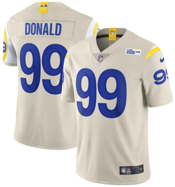 Nike Los Angeles Rams #99 Aaron Donald Bone 2020 New Vapor Untouchable Limited Jersey