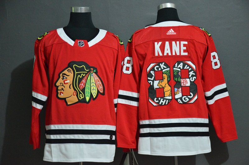 Men's Chicago Blackhawks #88 Patrick Kane NEW Red Fashion Adidas Stitched NHL Jersey