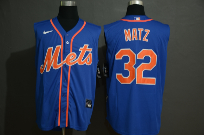 Men's New York Mets #32 Steven Matz Blue 2020 Cool and Refreshing Sleeveless Fan Stitched MLB Nike Jersey