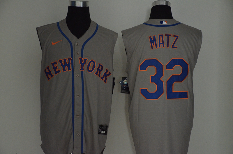 Men's New York Mets #32 Steven Matz Grey 2020 Cool and Refreshing Sleeveless Fan Stitched MLB Nike Jersey
