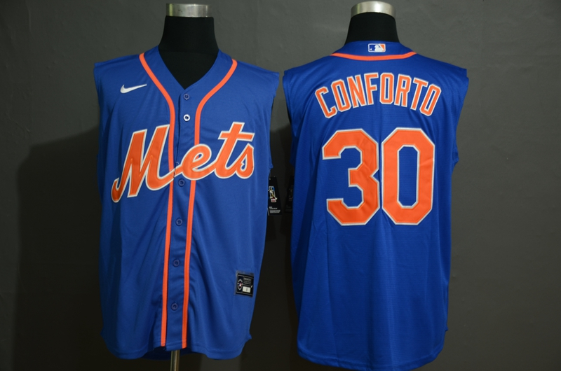 Men's New York Mets #30 Michael Conforto Blue 2020 Cool and Refreshing Sleeveless Fan Stitched MLB Nike Jersey