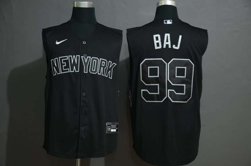Men's New York Yankees #99 Aaron Judge Black 2020 Cool and Refreshing Sleeveless Fan Stitched MLB Nike Jersey