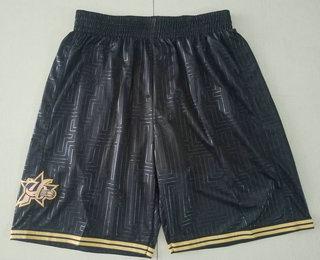 Men's Philadelphia 76ers Black 2000-01 Hardwood Classics Soul Swingman Throwback Shorts