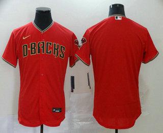 Men's Arizona Diamondbacks Blank Red Stitched Nike MLB Flex Base Jersey