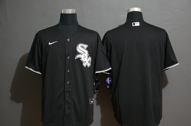 Men's Chicago White Sox Blank Black Stitched MLB Cool Base Nike Jersey