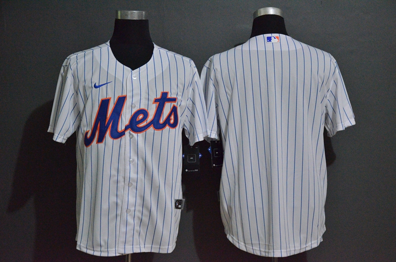 Men's New York Mets Blank White Stitched MLB Cool Base Nike Jersey