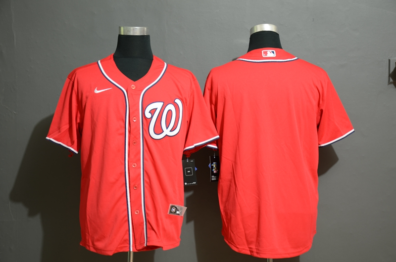 Men's Washington Nationals Blank Red Stitched MLB Cool Base Nike Jersey