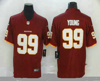 Men's Washington Redskins #99 Chase Young Red 2020 NEW Vapor Untouchable Stitched NFL Nike Limited Jersey