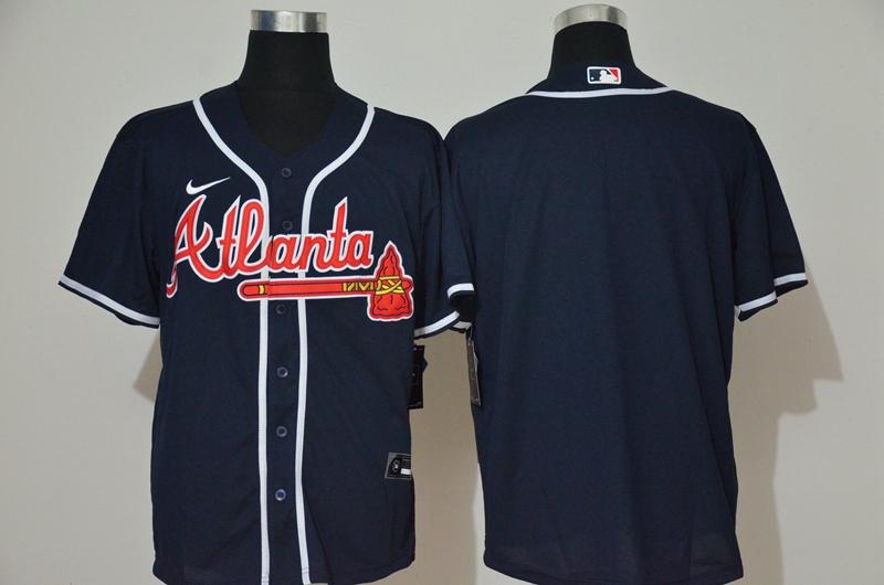 Men's Atlanta Braves Blank Navy Blue Stitched MLB Cool Base Nike Jersey