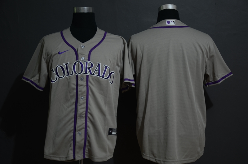Men's Colorado Rockies Blank Gray Stitched MLB Cool Base Nike Jersey
