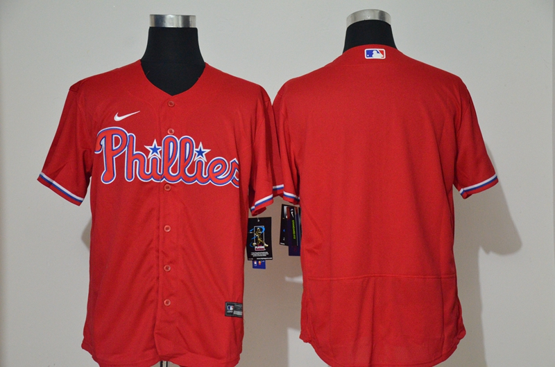 Men's Philadelphia Phillies Blank Red Stitched MLB Flex Base Nike Jersey